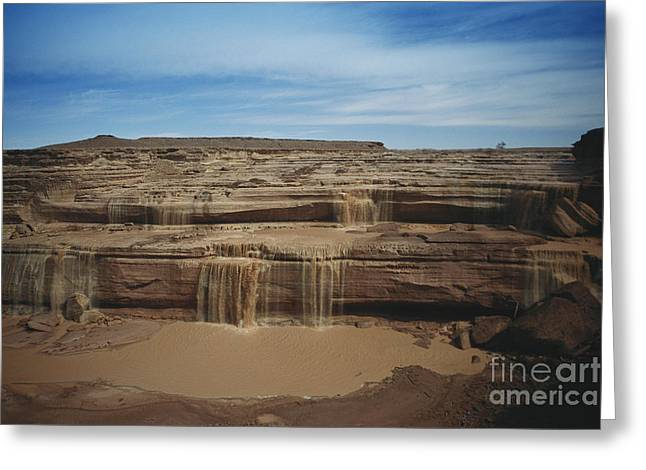 Grand Falls Of The Little Colorado Greeting Card by Mark Newman