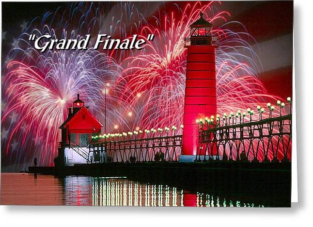 Grand Haven - Grande Finale Greeting Card by Robert Lyndall