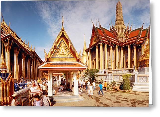 Visitors Greeting Cards - Grand Palace, Bangkok, Thailand Greeting Card by Panoramic Images