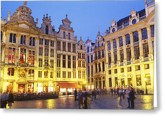 Market Square Greeting Cards - Grand Place, Brussels, Belgium Greeting Card by Panoramic Images