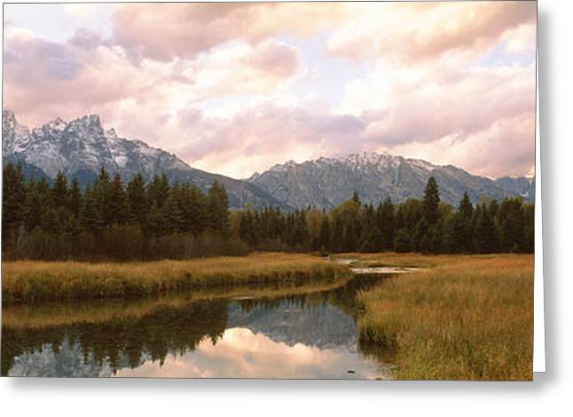 Snow Covered Field Greeting Cards - Grand Teton National Park Wy Usa Greeting Card by Panoramic Images