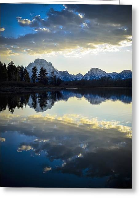 Recently Sold -  - Snow Capped Greeting Cards - Grand Teton Sunset Greeting Card by RiverNorth Photography