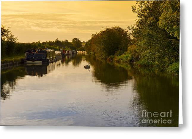 Peaceful Scene Greeting Cards - Grand Union Canal in Berkhampsted Greeting Card by Louise Heusinkveld