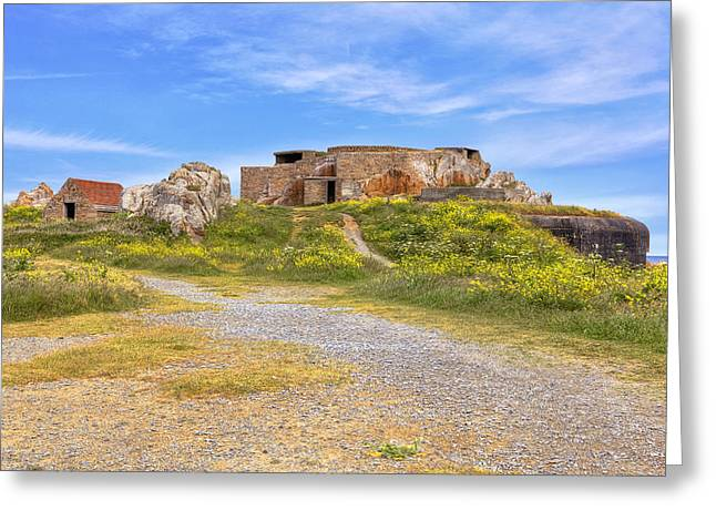 Grande Greeting Cards - Grandes Rocques Fort - Guernsey Greeting Card by Joana Kruse