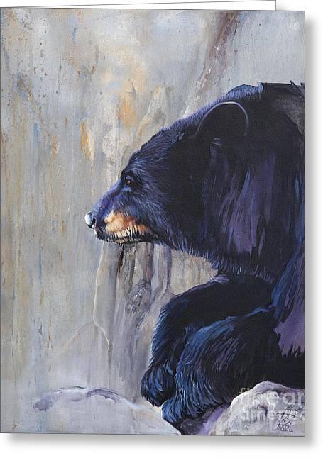 Grandfather Bear Greeting Card by J W Baker