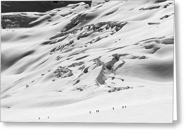 Glacier Greeting Cards - Granite Glacier Greeting Card by Ian Stotesbury