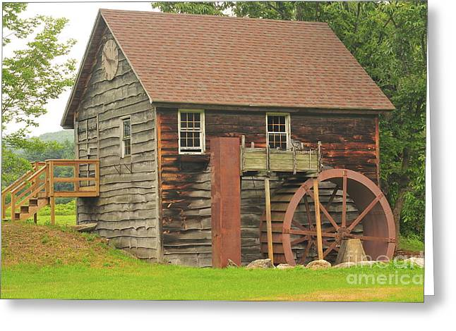 Catherine Wheel Greeting Cards - Granville Mill  Greeting Card by Catherine Reusch  Daley