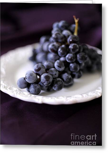 Purple Grapes Photographs Greeting Cards - Grapes Greeting Card by HD Connelly