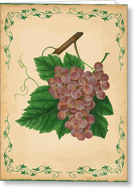 Grapes Illustration Greeting Card by Indian Summer