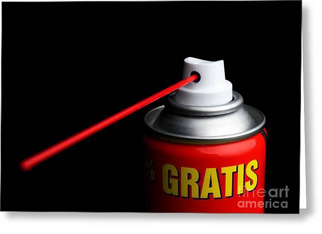 Lubricate Greeting Cards - Gratis service Greeting Card by Sinisa Botas