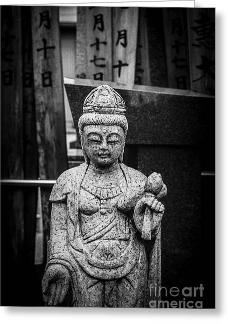 Wishes Greeting Cards - Graveyard Buddha Greeting Card by Dean Harte
