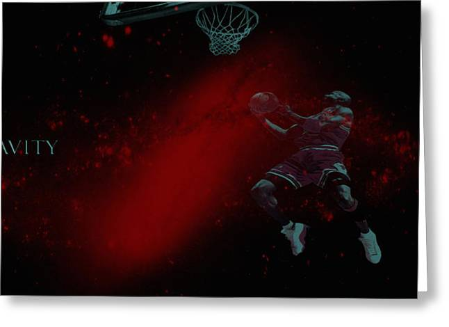 Nba Finals Mixed Media Greeting Cards - Gravity Greeting Card by Brian Reaves
