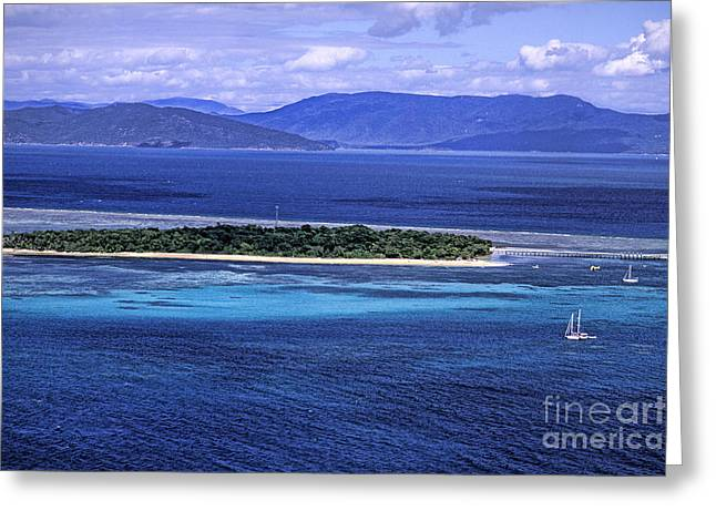 Sea Platform Greeting Cards - Great Barrier Reef Greeting Card by Bill Bachmann