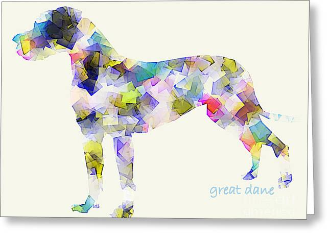 Great Dane Portrait Greeting Cards - Great Dane  Greeting Card by Bri Buckley