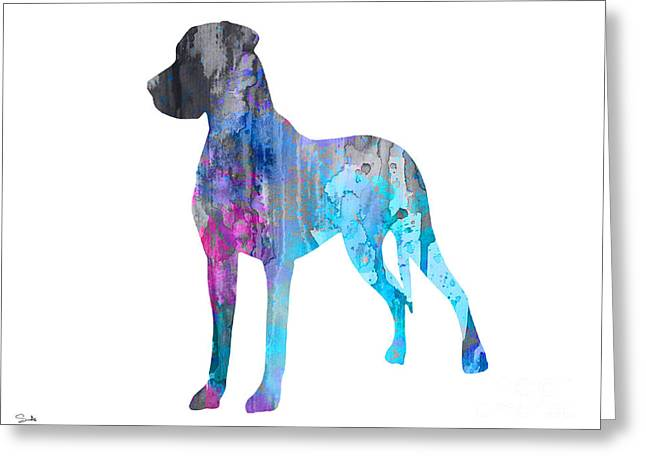 Great Paintings Greeting Cards - Great Dane 2 Greeting Card by Luke and Slavi