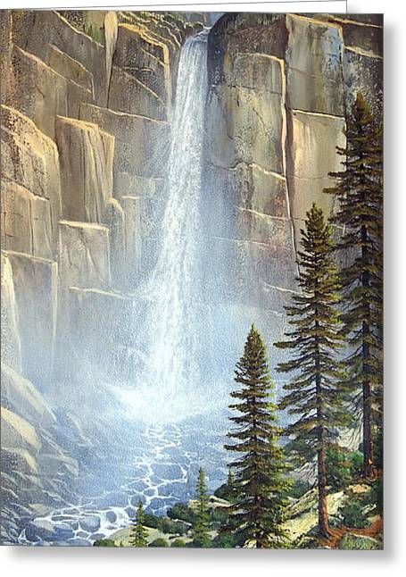 Great Falls Greeting Cards - Great Falls Greeting Card by Frank Wilson