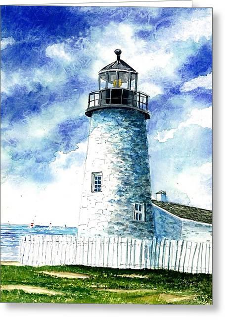 Award Winning Art Greeting Cards - Great Lakes Light II Greeting Card by Steven Schultz