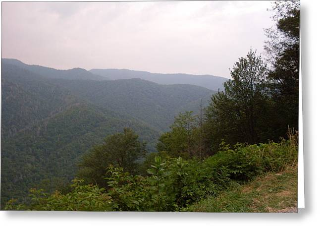 Smokey Mountains Paintings Greeting Cards - Great Smokey Mountain Greeting Card by Celestial Images