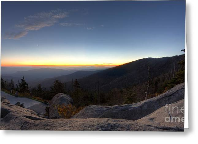 Dome Greeting Cards - Great Smokie Mountains National Park Sunset Greeting Card by Dustin K Ryan