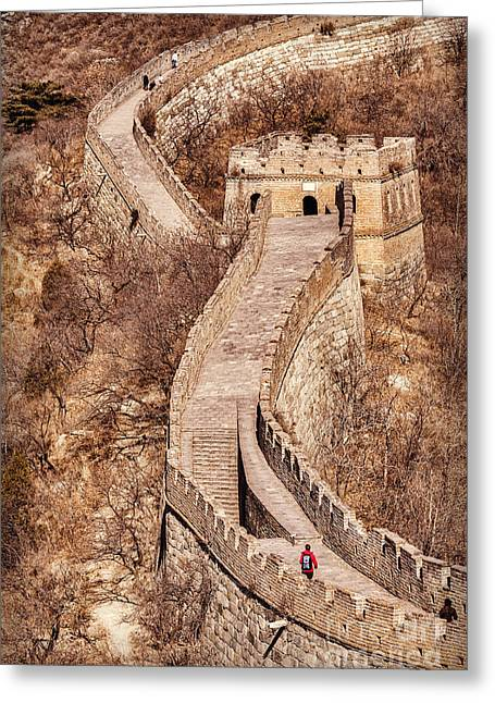 Great Wall Greeting Cards - Great Wall of China Mutianyu Greeting Card by Colin and Linda McKie