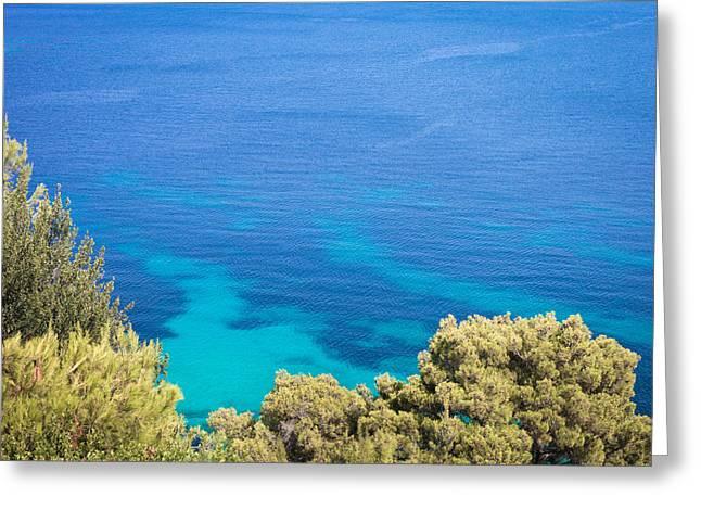 Aegean Greeting Cards - Greek island Greeting Card by Tom Gowanlock