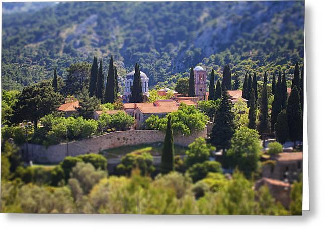 Emmanouil Klimis Greeting Cards - Greek monastery - Nea Moni... Greeting Card by Emmanouil Klimis