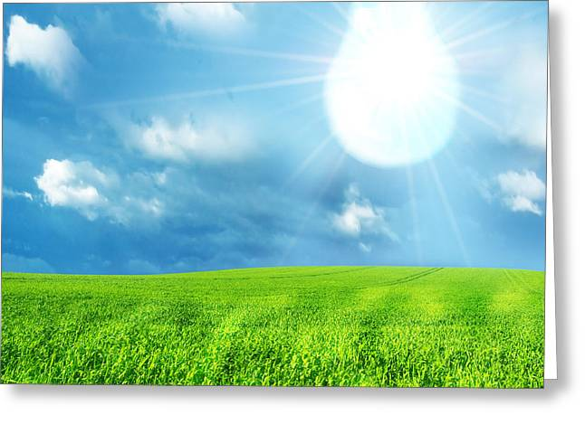 Ecologic Greeting Cards - Green energy concept Greeting Card by Michal Bednarek