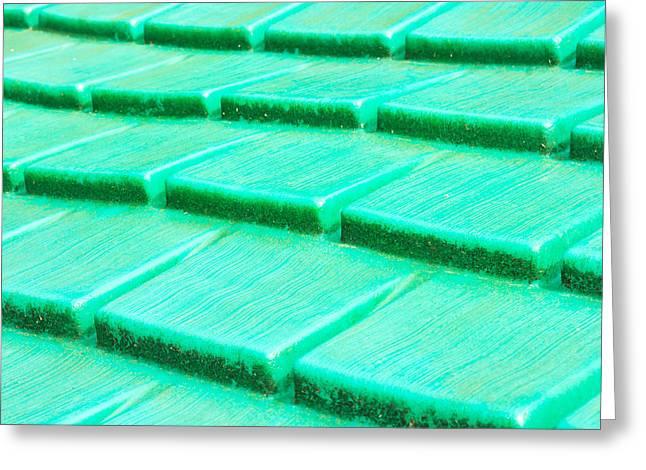 Green Plastic Greeting Card by Tom Gowanlock