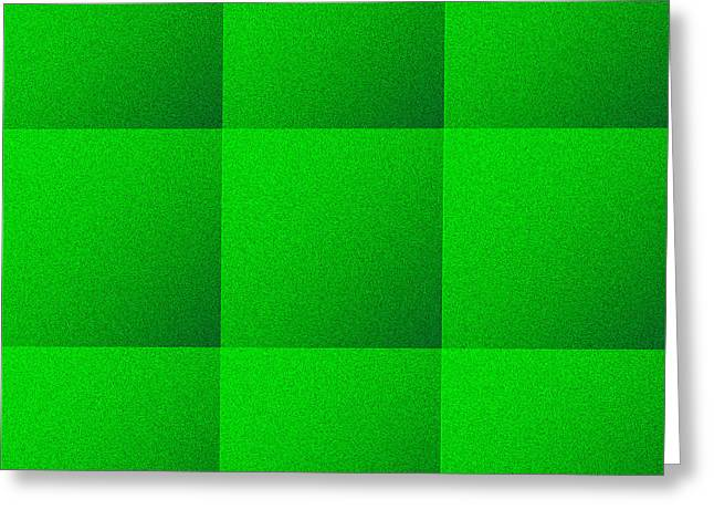 Art Websites Greeting Cards - Green Squares Texture Background Greeting Card by Valentino Visentini
