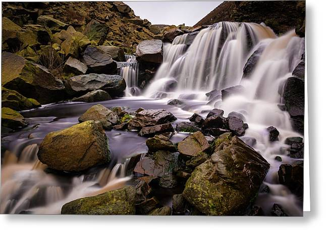 Long Exposure Greeting Cards - Greenfield Brook Waterfall. Greeting Card by Daniel Kay