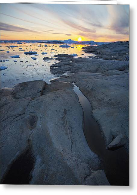 Toby Greeting Cards - Greenland, Icefjord Ilulissat Greeting Card by Toby Adamson