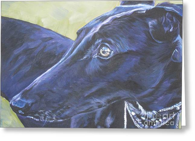 Rescued Greyhound Greeting Cards - Greyhound Greeting Card by Lee Ann Shepard