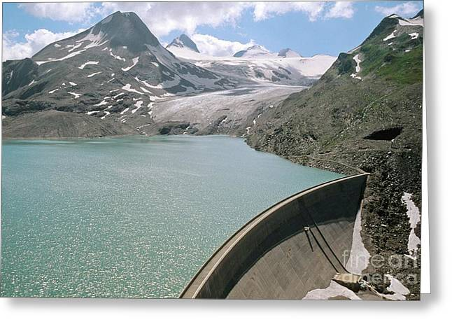 Recently Sold -  - Geology Photographs Greeting Cards - Griesse Lake And Dam, Switzerland Greeting Card by Dr Juerg Alean