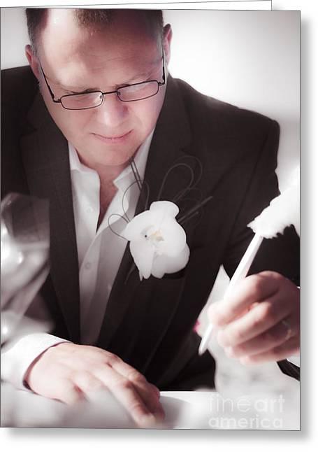 Bridegroom Greeting Cards - Groom Greeting Card by Ryan Jorgensen