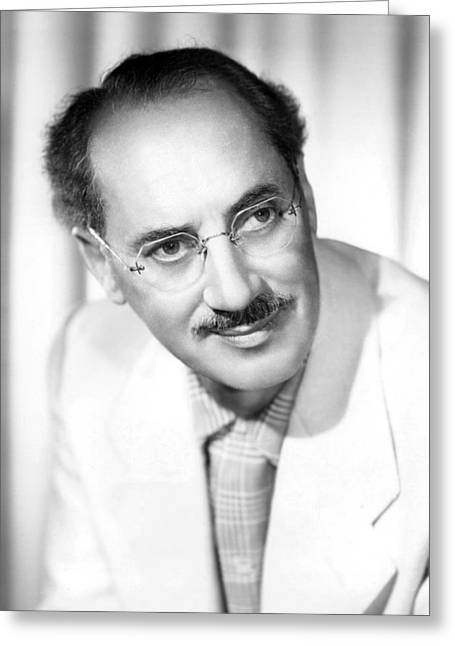 Marx Greeting Cards - Groucho Marx Greeting Card by Silver Screen