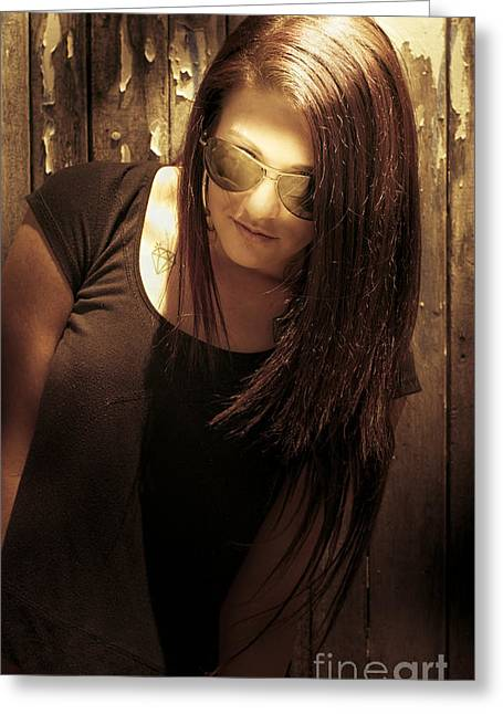 Grunge Woman Greeting Card by Jorgo Photography - Wall Art Gallery
