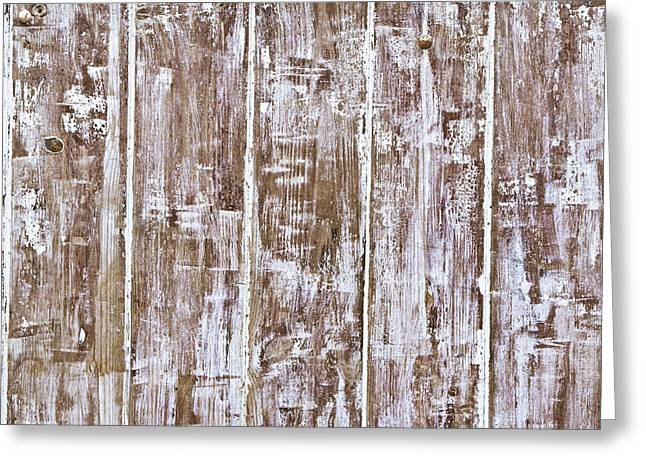 Nail Design Greeting Cards - Grungy wood Greeting Card by Tom Gowanlock