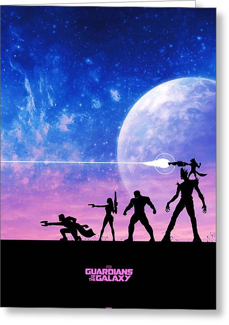 Captain America Greeting Cards - Guardians Of The Galaxy Greeting Card by FHT Designs