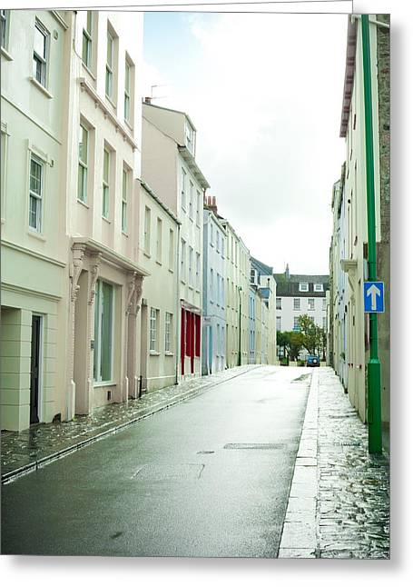 Guernsey Greeting Cards - Guernsey Street Greeting Card by Tom Gowanlock