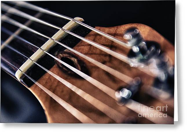 Classic Saddle Greeting Cards - Guitar Strings Greeting Card by Stylianos Kleanthous