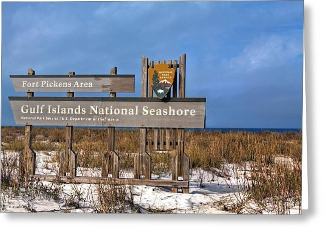 Florida Panhandle Greeting Cards - Gulf Islands National Seashore Greeting Card by JC Findley