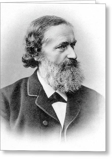 Gustav Kirchhoff Greeting Card by Emilio Segre Visual Archives, Brittle Books Collection/american Institute Of Physics
