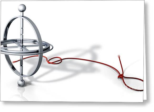 Stabilization Greeting Cards - Gyroscope, Artwork Greeting Card by Claus Lunau