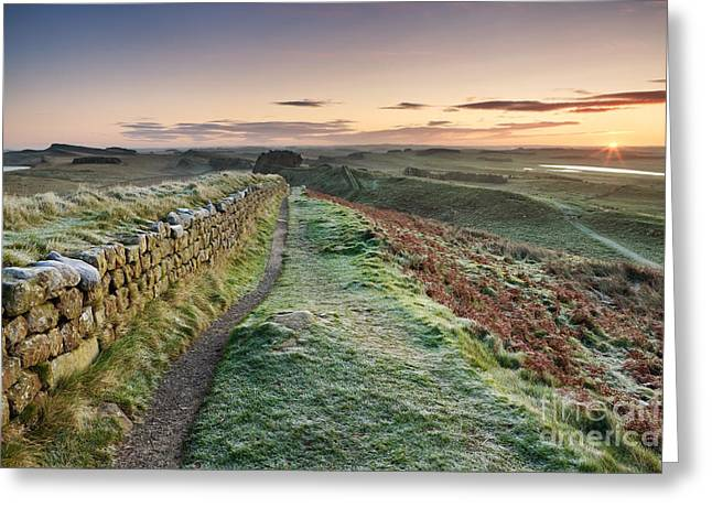 Crag Greeting Cards - Hadrians Wall Greeting Card by Rod McLean