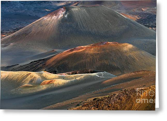 Photogaph Greeting Cards - Haleakala  A001986-1a Greeting Card by Frank Wicker