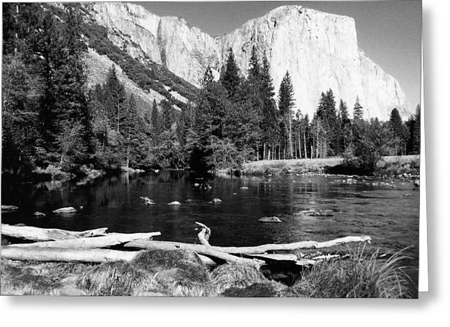 Vacation Spots Greeting Cards - Half Dome In Yosemite In October Greeting Card by Barbara Snyder