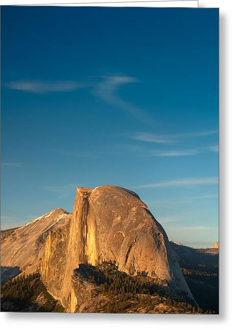 Dome Greeting Cards - Half Dome Sky Greeting Card by Steve Gadomski