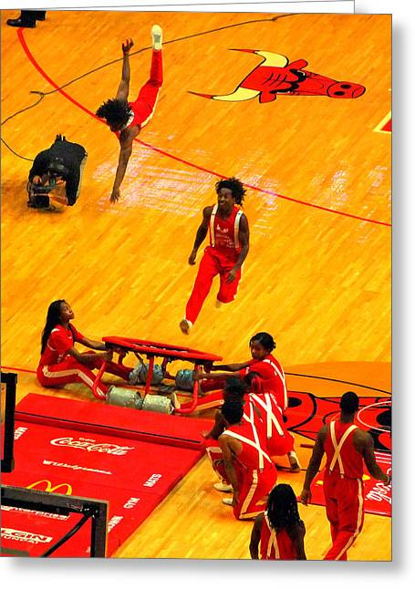 Basketballs Greeting Cards - Half-Time Greeting Card by David Gilbert
