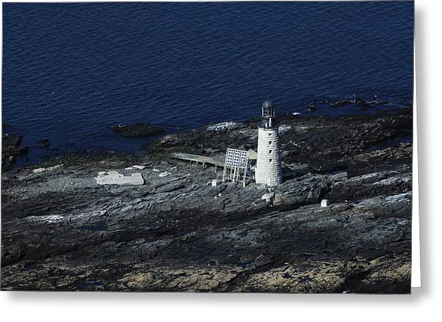 Harpswell Greeting Cards - Halfway Rock Lighthouse, Harpswell Greeting Card by Dave Cleaveland