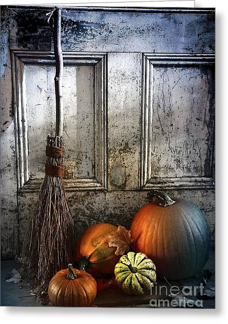 Halloween Night Greeting Card by Sandra Cunningham